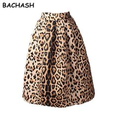 Good price BACHASH New 2017 Autumn Winter Women Vintage Satin Leopard Print Pleated Skirts High Waist A-Line Tutu Midi Skirt Size S-XL just only $15.54 with free shipping worldwide  #womanskirts Plese click on picture to see our special price for you