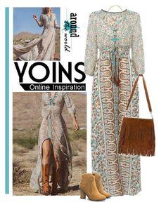 """YOINS BOHO DRESS"" by bodangela ❤ liked on Polyvore featuring yoins"