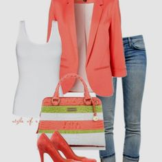 Business casual  Cute and colorful, but put-together