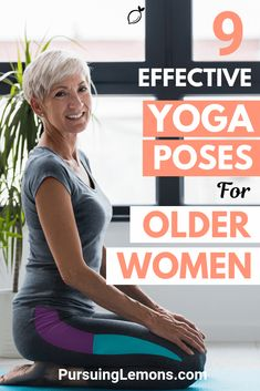Yoga for Older Women: 9 Effective Asanas : Truly Amazing! The benefits of yoga for older women include relieving headaches, joint pain and back pain. Because of this, yoga is getting popular among older adults. Diy Yoga, Yoga Régénérateur, Yoga Meditation, Yoga Fitness, Fitness Senior, Health Fitness, Fitness Plan, Workout Fitness, Ashtanga Yoga