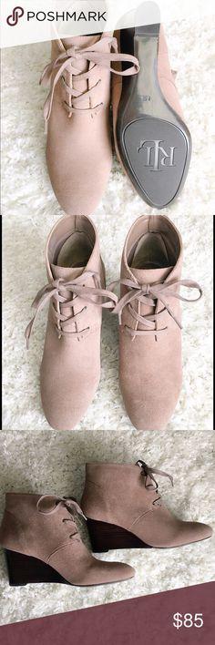 🎉 PRICE DROP 🎉Lauren Ralph Lauren Wedge Booties Lauren Ralph Lauren wedge booties. The most perfect shoe to have in the closet. Never worn! Sold out online! Ralph Lauren Shoes Ankle Boots & Booties