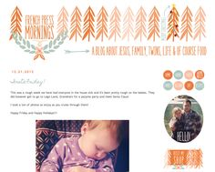 { French Press Mornings: Blog Design }