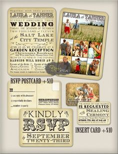 I like the idea of having photos on the back of the non folding program and on the RSVP card... (not a fan of this design)