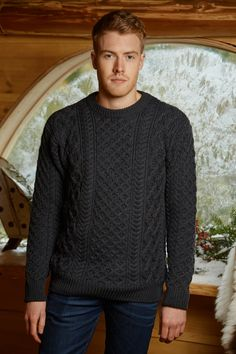 Mens Blasket Aran Sweater - Reviews This sweater features the traditional Aran Cable pattern, distinctively knit to boost the definition of the pattern. Inspired by the traditional Aran Sweater, it's the perfect choice for a man that appreciates the quality of traditional Aran but values a more fitted style of sweater.