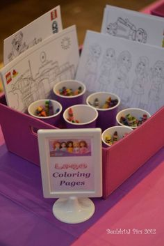 LEGO® Friends, Pink, Purple, Girl Birthday Party Ideas | Photo 1 of 40 | Catch My Party