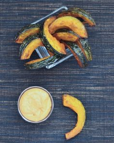 kabocha fries with buffalo celery ranch dressing