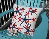 Outdoor Kissen Sternen sind OURS Seestern patriotische Seesterne Strandhaus wählen Sie jede Farbe Finger Sterne malte Küsten-kratzbürstig Chris Original