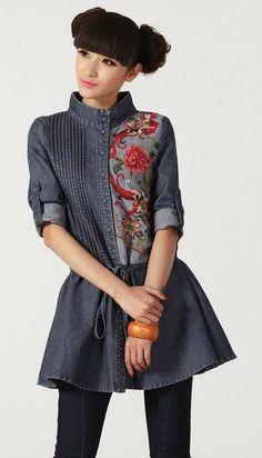 Aplicaciones de tela para personalizar ropa y el estilo Alabama Chanin