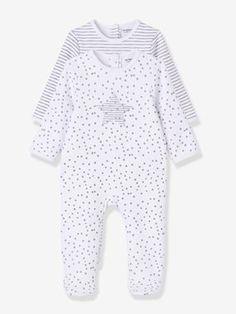Mid season sale-Baby Pack of 2 Printed Fleece Pyjamas, Back Press-Studs