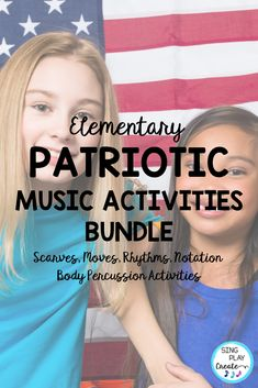 Patriotic Creative Movement and Rhythm Activities will give your music class elementary students activities to connect movement and music, learn beginning rhythms (ta and ti-ti), experience body percussion, and play instruments all in one amazing patriotic inspired bundle. Perfect for Patriotic Holiday activities. #singplaycreate #veteransdaymusic, #musicedveteransdaylessons, #musiceducationveteransdaylessons, #orffveteransdaysongs #patrioticsongs #musiced #musiceducation…