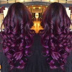 Red violet ombre hair! #Redviolethair #fohair #haircolor #hairextension