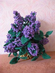 вязаные цветы: сирень, работа Светланы Масловой