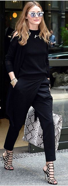 Everything Black Olivia Palermo Outfit More