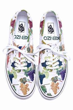 Kenzo x Vans Print Sneakers