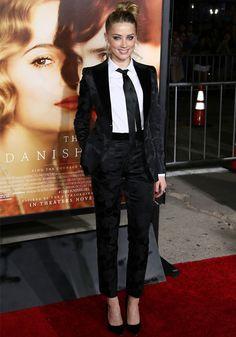 Look da atriz Amber Heard com estilo tomboy.