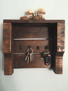 Pallet Key Holder Pallet Decor Reclaimed Wood by DuffsDecorAndMore