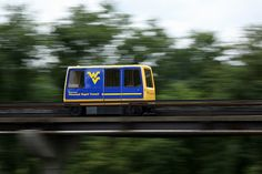 The Morgantown Personal Rapid Transit (WVU PRT) system is a one-of-a-kind people mover system in Morgantown, West Virginia, United States. The system connects the three Morgantown campuses of West Virginia University (WVU), as well as the downtown area.