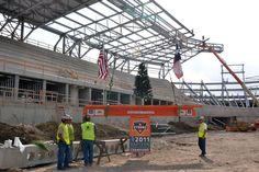 Manhattan Construction tops out Dynamo Stadium 11_14_2011