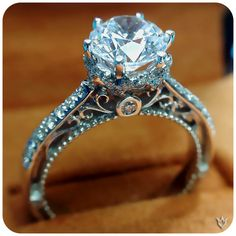Verragio Engagement Ring- Venetian 5052. Holy gorgeous but too many prongs.
