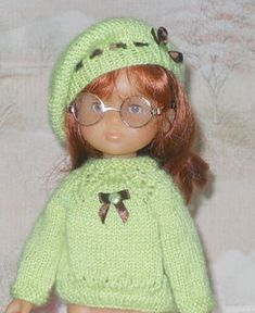 ensem_pistache (links to patterns on website) Knitted Hats, Crochet Hats, Kids And Parenting, I Dress, Baby Dolls, Doll Clothes, Winter Hats, Knitting, Pattern