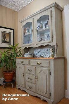 DIy Gorgeous Old Find to .Farmhouse China Cabinet Makeover.!