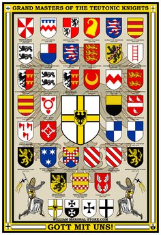 Teutonic Knights Grand Masters poster from williammarshalstore.com