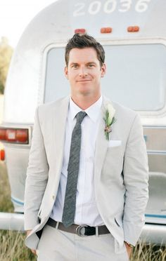 Light Grey Suit Wedding | My Dress Tip