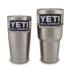 Yeti Rambler Mugs- They keep your drink cold or hot...totally worth the money!