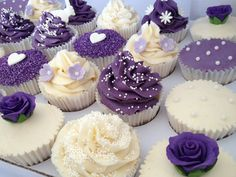 Purple Wedding Cupcakes | by Heavenly-Cupcakes