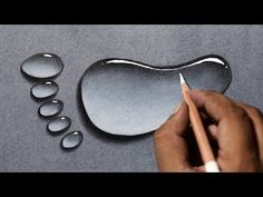 Draw water drops in 3 easy steps! Draw water drops in 3 easy steps! 3d Art Drawing, Painting & Drawing, Realistic Eye Drawing, Water Drawing, Pencil Art Drawings, Drawing Skills, Easy Drawings, Drawing Faces, Drawing Water Drops