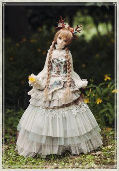 A-S Western Dress - Deer Girl (CL3130105) - Mint on Card BJD Mobile