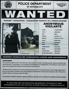 """7 pages from the Gotham Police Department's Anonymous Vigilante Exhibition.  """"The Dark Knight"""" teasers begin."""