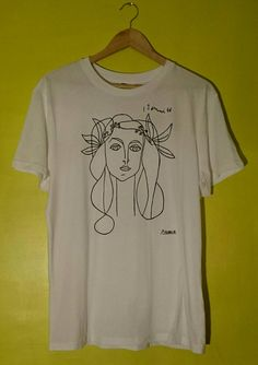 Picasso Woman Sketch T Shirt by SolukWorkshop on Etsy