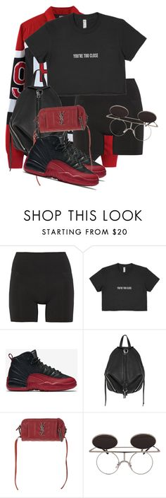 """Untitled #3605"" by xirix ❤ liked on Polyvore featuring VFiles, Lucas Hugh, NIKE, Rebecca Minkoff and Yves Saint Laurent"