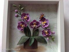 Slika mural crtanje Rođendan Orchid papir Papir nabran porub trake fotografije 5