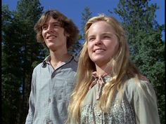 Melissa Sue Anderson as Mary Ingalls and Radames Pera as John Jr. in Little House on the Prairie (I'll Ride the Wind) (1977)