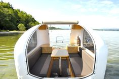 The Sealander is a compact caravan that doubles as a small boat! It is made in Germany and no special license is required.