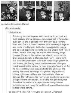 "Harry Potter - Sorting Hat (""better than every but McGonagall"" so true)"