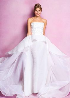 55b9f35ede3 Crisp Gowns with Floral Details by Angel Sanchez Fall 2016