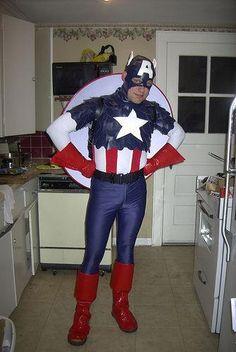 DIY Captain America Halloween Costume DIY Halloweeen