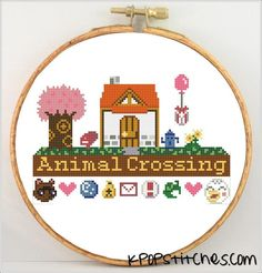 Looking for your next project? You're going to love Animal Crossing sampler cross stitch by designer KpopStitches.
