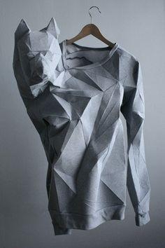 origami wolf shirt