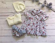 Baby Set Gre 50/56, NEU Handgefertigt, € 45,- (8401 Kalsdorf bei Graz) - willhaben Baby Set, Floral Tops, Rompers, Dresses, Women, Fashion, Baby Sewing, Little Dresses, Cotton Fabric