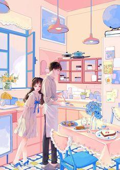 Cartoon Girl Images, Cartoon Girl Drawing, Cartoon Art Styles, Romantic Anime Couples, Romantic Manga, Anime Couples Cuddling, Cute Couple Art, Anime Love Couple, Anime Couples Drawings