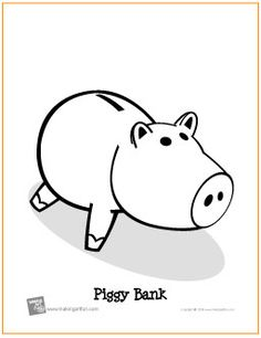 Piggy Bank Coloring Page Toy Story