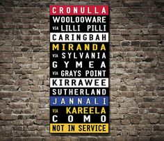 This destination tram scroll is a replica an old tram sign for East Brisbane. It features various colours and makes a colourful alternative to the black and white tram & bus scrolls. Photo Canvas, Canvas Artwork, Canvas Art Prints, Wall Canvas, Canvas Prints Australia, Melbourne Tram, Poster Pictures, Bus, Custom Canvas