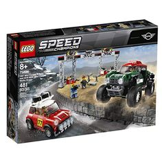 Stage a classic vs. modern rally race with these cool LEGO® Speed Champions 75894 1967 Mini Cooper S Rally and 2018 MINI John Cooper Works Buggy car toys! The 1967 Mini Cooper S Rally features a roof rack with 2 spare tires, just like the original car, Ferrari F40, Maserati, Bugatti, Mini Cooper S, Mini John Cooper Works, Porsche 911 Rsr, Ford Mustang Fastback, Buggy, Dodge Challenger