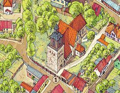 """Popatrz na ten projekt w @Behance: """"Mapa rysunkowa Morynia. Drawing map of Moryn."""" https://www.behance.net/gallery/29867519/Mapa-rysunkowa-Morynia-Drawing-map-of-Moryn"""