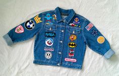 Reworked Vintage Jean Jacket with Patches Women Size: L by KodChaPhorn on Storenvy