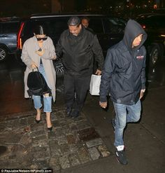 Date night! Kylie Jenner and Tyga braved a wet night to head out for some dinner in New York on Wednesday